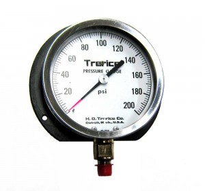 Trerice-0-200-PSI-Flanged-Pressure-Gauge-1-4-NPT